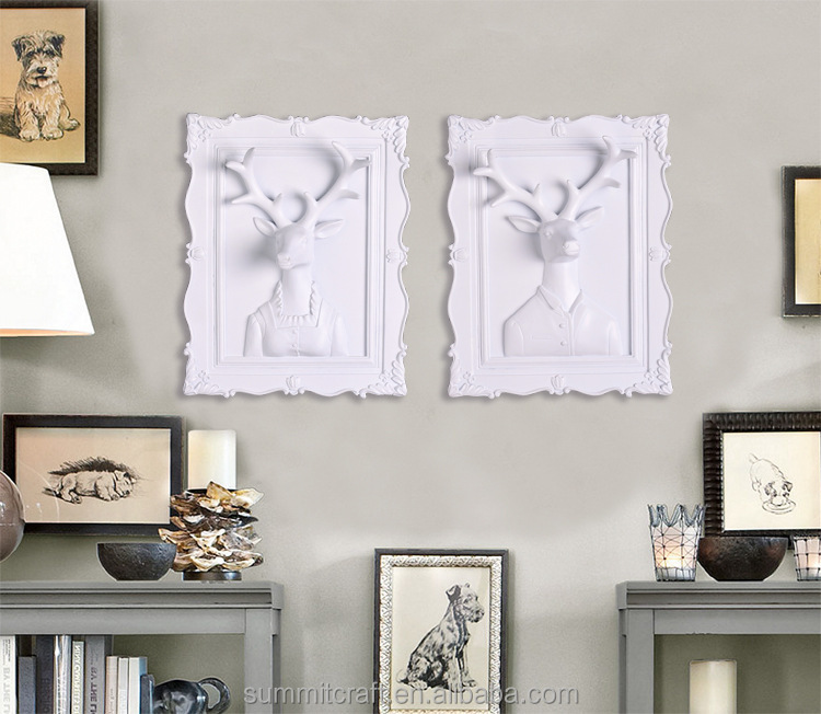 3D wall art craft hanging decor relief resin crafts of deer