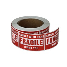 "FRAGILE Sticker Handle With Care,Packing/ Shipping Labels-Self-Adhesive stickers ( (2"" x 3"",500 labels per roll))"