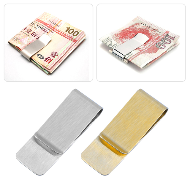 Fashion Simple Men Stainless Steel Money Clip Cash Note Credit Wallet Purse Hot Selling