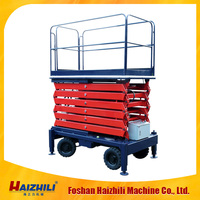 12m mobile scissor lift table CE self propelled hydraulic lift table