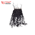 Wholesale Virgin Hair Vendors 4x 4 Lace closure With Baby Hair 100% Indian Hair Closure Deep Curly