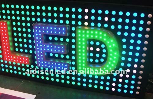 led pixel light screen,letter(programmable with SD card,IP66,high quality)