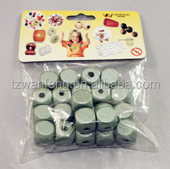Factory supply colorful bulk wooden beads for wooden beaded jewelry sets