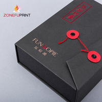 Red Hot Stamping Paper Box With Eva Inside portfolio Style Packing Box
