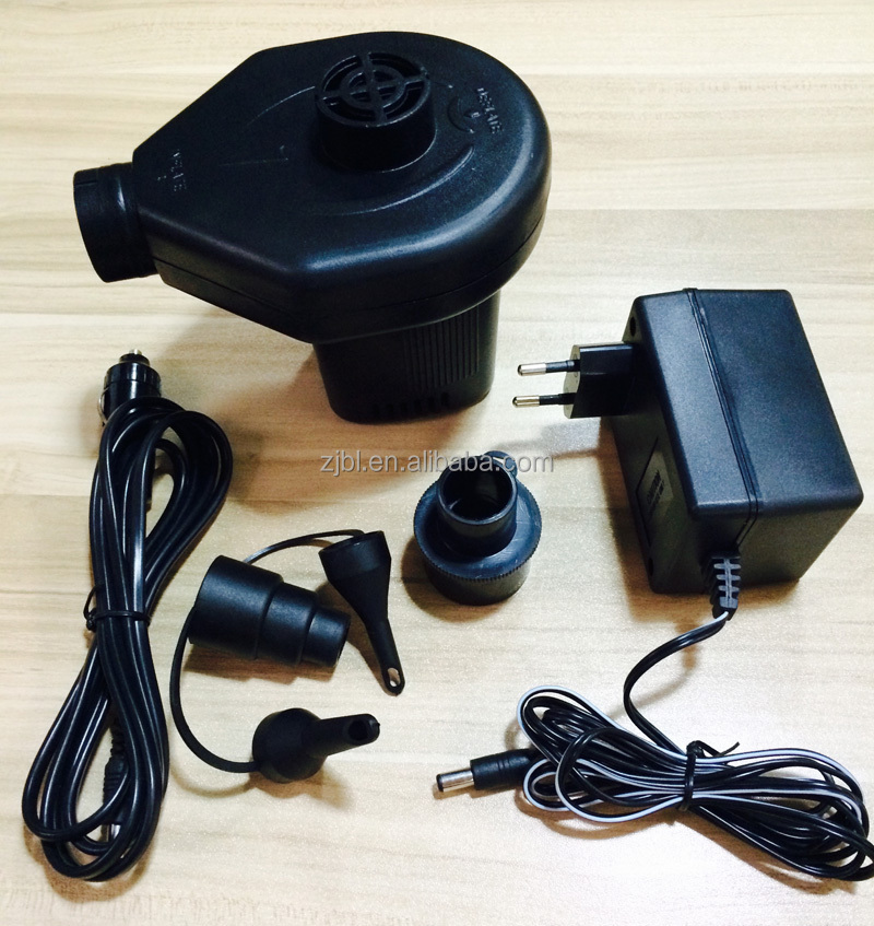 quick fill high output AC or DC electric air pump inflatable pump