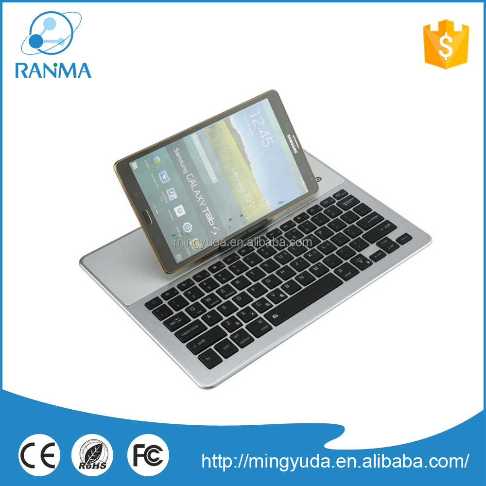 Large stock for detachable wireless aluminum bluetooth vertical keyboard case