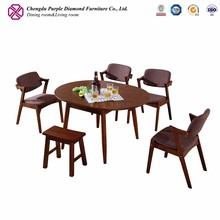 Hot trending antique furniture dining room round wood table for sale