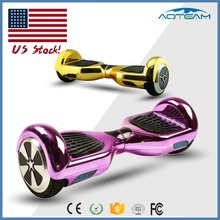 USA warehouse gold chrome 6.5inch two wheel hoverboard with Bluetooth, self balancing scooter usa warehouse
