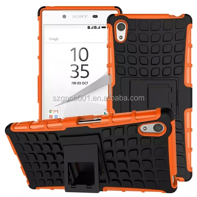 For SONY XPERIA Z5 Compact E5803 Armor CASE Heavy Duty Hybrid Rugged TPU Impact Kickstand Hard ShockProof CASE OUT DOOR CASE