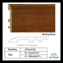 INTCO wood color waterproof pvc skirting board