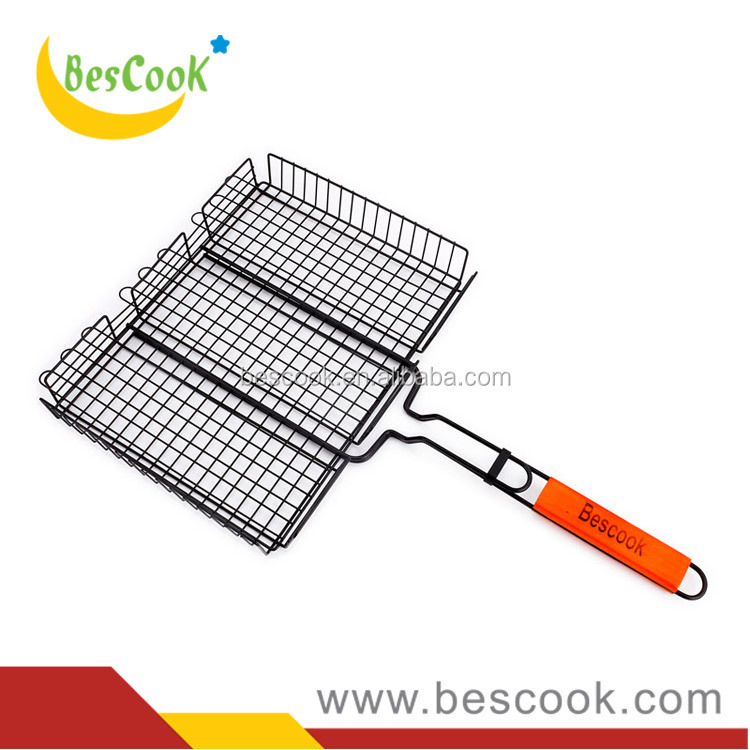 Good price non-stick coating BBQ grill basket