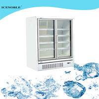 690L commercial used upright glass door soft drink refrigerator