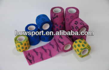Printed Medical Elastic Crepe Bandage Sticky To Itself Only Cotton Elastic Bandage CE/FDA (SY)