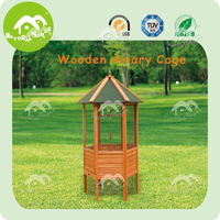 hot sale easy assembly bird cage wire mesh parrot bird cage wooden bird house