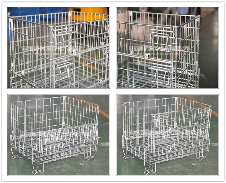 Heavy duty stackable steel storage cage (L1200*W800 mm/OEM)