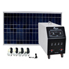 portable 300w solar power generator system and usb charging