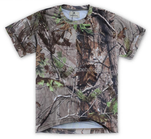 Wholesale blank t shirts Custom Hunting Fishing T Shirt Sublimation camouflage shirts