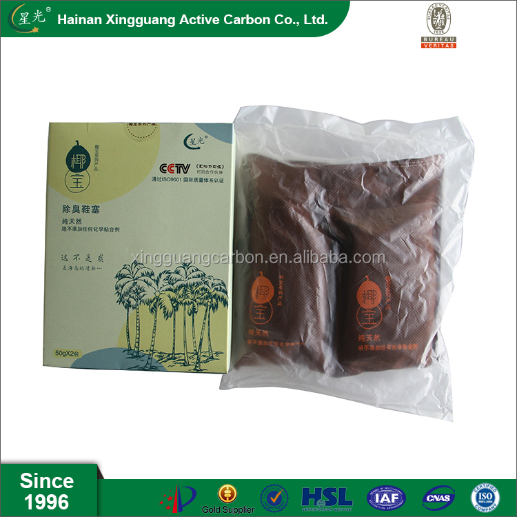 Shoe deodorant coconut active carbon bag for air absorption
