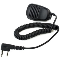 2 Pin Mini PTT Speaker MIC For Walkie Talkie Accessories for Baofeng UV5R 888S TYT HYT Radio