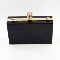 Liquid style Modern clutch style and acrylic black and gold evening bag coustomized acrylic box