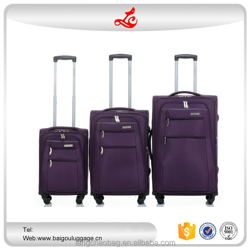 "2016 hot selling lightweight trolley bag 20""24""28"" decent travel luggage nylon colorful luggage"
