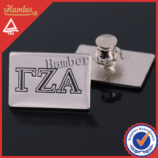 High quality csotmized hand metal badges with deluxe clutch