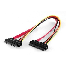 Wholesale latop Sata cable with latch 7+15P SATA power cable