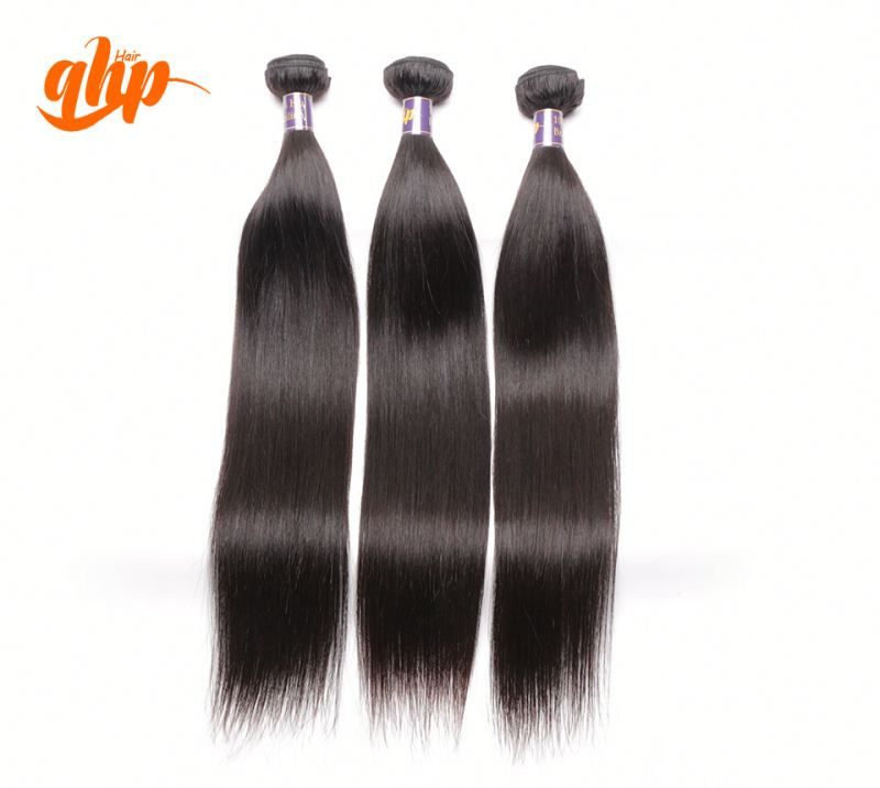 QHP HAIR New factory price virgin brazilian hair straight unprocessed, 22 inch brazilian straight weave