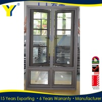 Aluminum Side Opening Window/French window/Casement window comply with Australian Standards & New Zealand standards