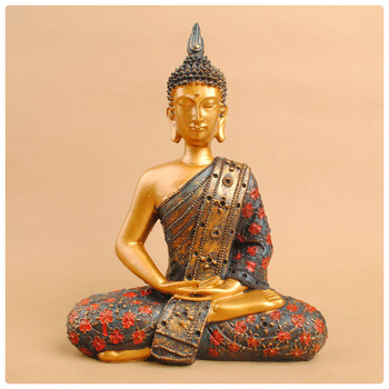 Beautiful life size thai buddha statue ,art and crafts ,resin garden buddha statue