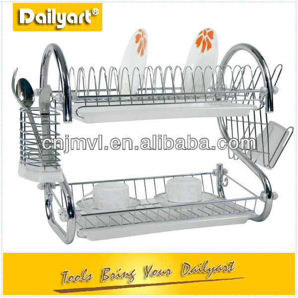 2 layer Chrome plated wire dish rack