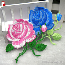 Rose Applique Embroidery Flower Patches for Ladies clothes