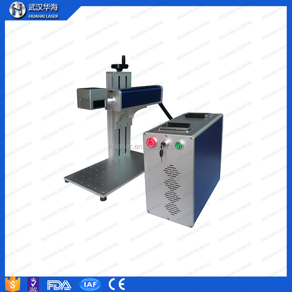 3d color printed fiber laser marking machine for metal/pipe/plastic/tag/key chains/pen