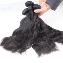 Fast delivery full cuticle natural wave 100% raw unprocessed brazilian beach wave hair