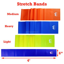 Crossfit Yoga Pilates 100% Natural Latex Ballet Stretch Door GYM Elastic Exercise Resistance Band Sets 1.8m long