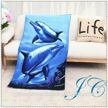 Wholesale Microfiber Custom Printed Beach Towel With 3D Marine Animals