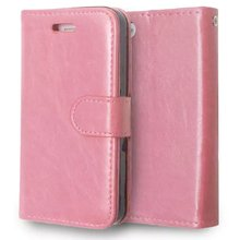 For iPhone 4 4S Magnetic Flip PU Leather Wallet Case with three Card Slots Stand Mobile Phone Cover cases