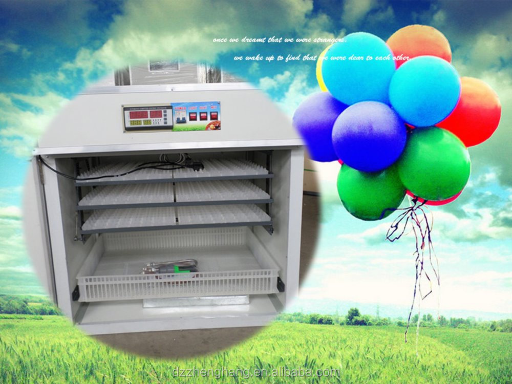 Factory price full automatic egg incubator with hatching baskets ZH-528