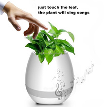 New Smart LED Bluetooth Music Vase Speaker Real Plant Touch Sensing Flower Pot USB Charging Waterproof Smart Music Flower Pots
