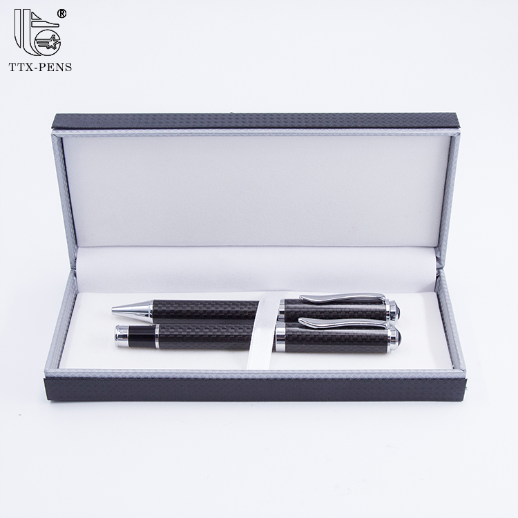 2018 luxury branded classical special heavy metal roller ball pen set
