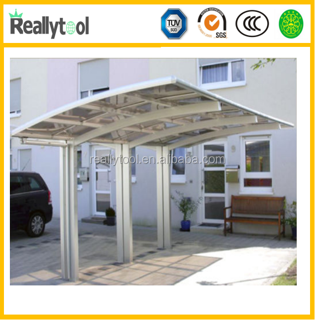 High quality polycarbonate solar carport with aluminum frame/patio cover/outdoor canopy