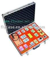 2013 new design Alumium instrument case sie :420x330x150MM with logo print and strong handle and safe locks