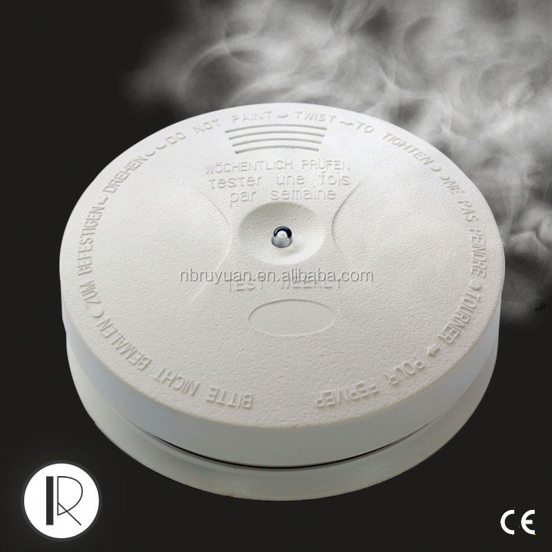 C1008077 AC 220v hard wire smoke detector with 9v backup battery