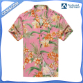 Custom sublimation printed mens hawaiian shirts wholesale