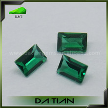 loose gemstone emerald cut synthetic emeralds for sale