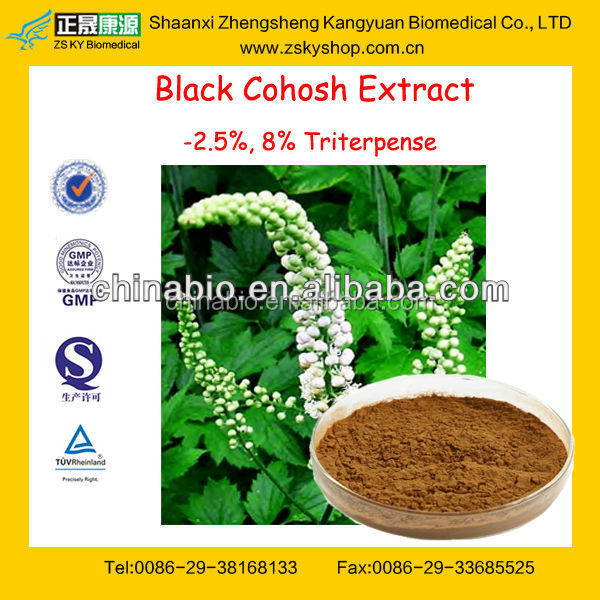 GMP Factory Supply Natural Black Cohosh Extract Powder