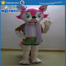 Pretty cute furry pink fox anthro movie character wild animal high quality custom mascot costume