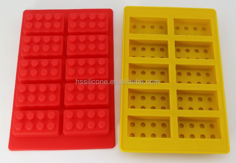 Bricks shaped silicone molds for candy