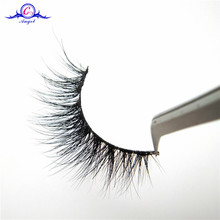 Beauty Super Natural Long Fake Eyelash 3D Real Mink Fur Popular Strip Lashes