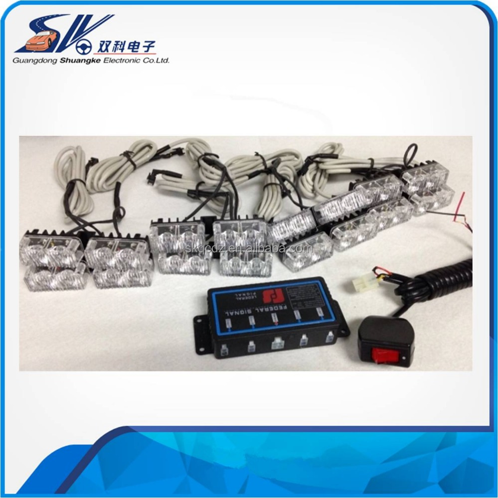 12v, 1 year warranty, IP65 32w Emergency led car grille strobe light